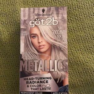 Schwarzkopf got 2b Metallics hair color